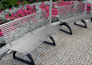 Downey, CA Stainless Steel Bench