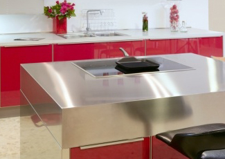 Stainless Kitchen Island Serving Los Angeles, We Fabricate Stainless Steel  Countertops ...
